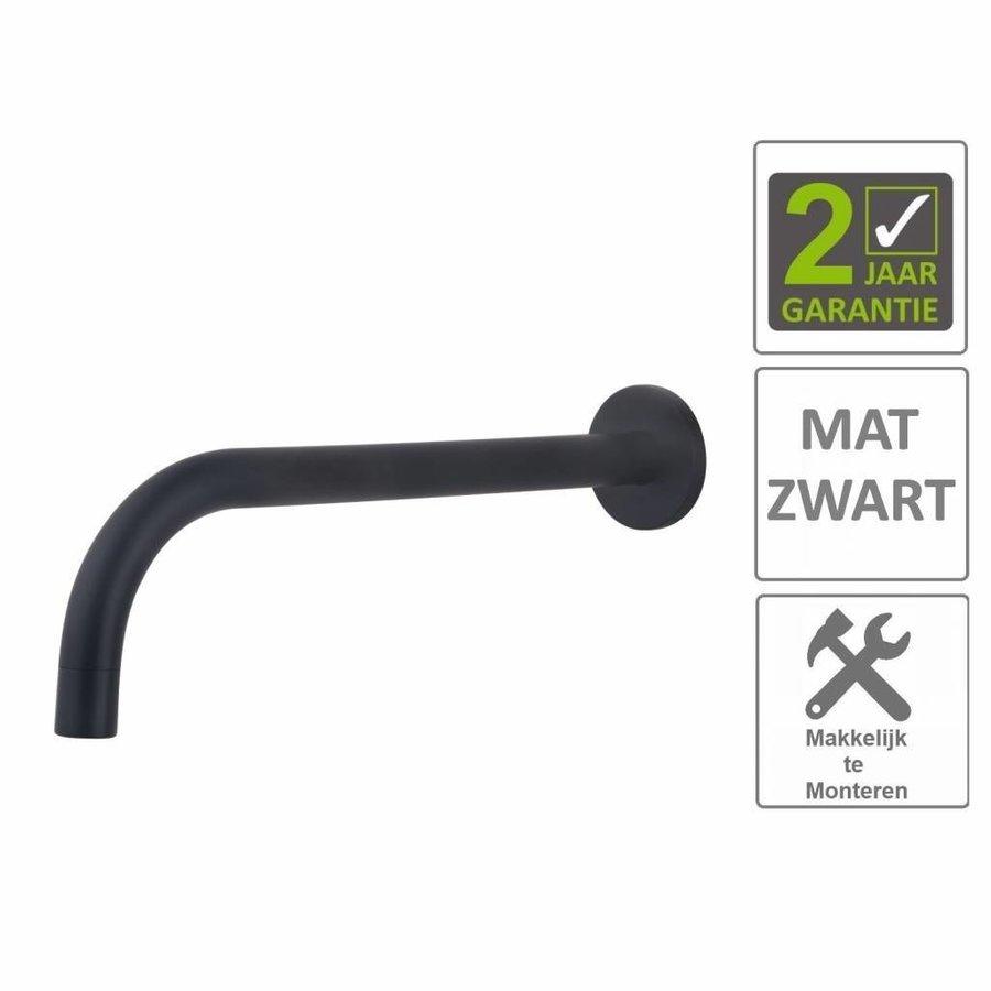 AQS Wastafelkraan Fit Rond 18mm Uitloop 25cm Mat Zwart