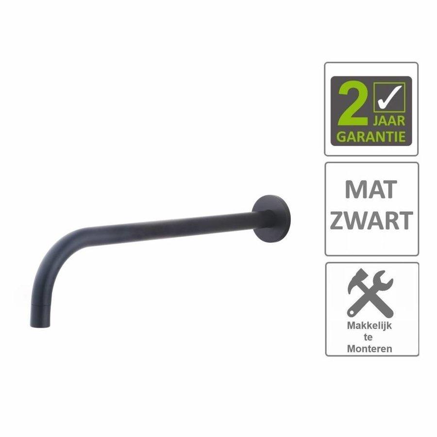AQS Wastafelkraan Fit Rond 18mm Uitloop 30cm Mat Zwart
