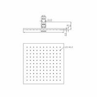 AQS Hoofddouche Luxe Vierkant 40x40 cm Mat Zwart