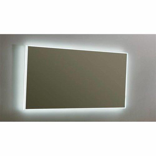 Spiegel Sanilux Mirror Infinity 140x80x4,5 cm Aluminium met LED Verlichting en Schakelaar