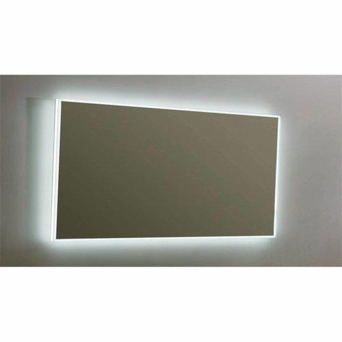 Spiegel Sanilux Mirror Infinity 140x70x4,5 cm Aluminium met LED Verlichting en Spiegelverwarming