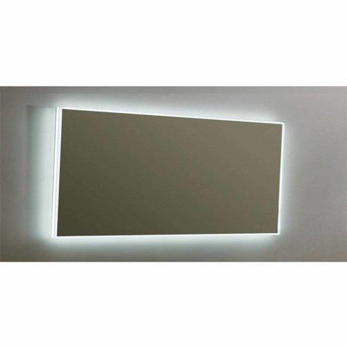Spiegel Sanilux Mirror Infinity 160x80x4,5 cm Aluminium met LED Verlichting en Spiegelverwarming
