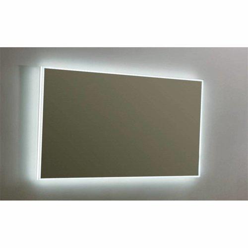 Spiegel Sanilux Mirror Infinity 120x70x4,5 cm Aluminium met LED Verlichting en Spiegelverwarming