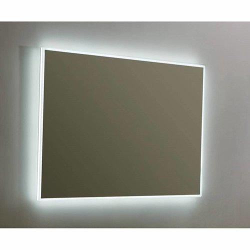 Spiegel Sanilux Mirror Infinity 100x70x4,5 cm Aluminium met LED Verlichting en Spiegelverwarming