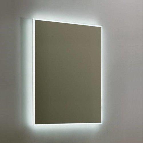 Spiegel Sanilux Mirror Infinity 58x80x4,5 cm Aluminium met LED Verlichting en Spiegelverwarming