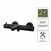 AQS Badkraan Cemal Thermostatisch Opbouw Mat Zwart