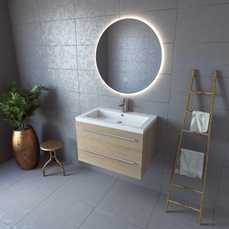 Badkamerspiegel Boss & Wessing Rond 80 cm LED Verlichting Warm White