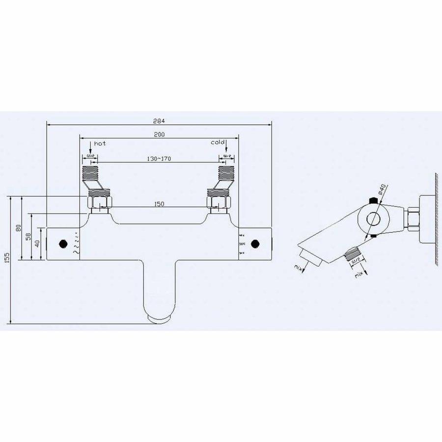 AQS Badmengkraan Janero Thermostatische Mat Zwart