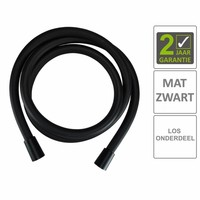 AQS Doucheslang Kunststof 150 cm Mat Zwart