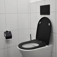 AQS Toiletzitting Vera Shade Fit Met Deksel Met Soft Close Mat Zwart