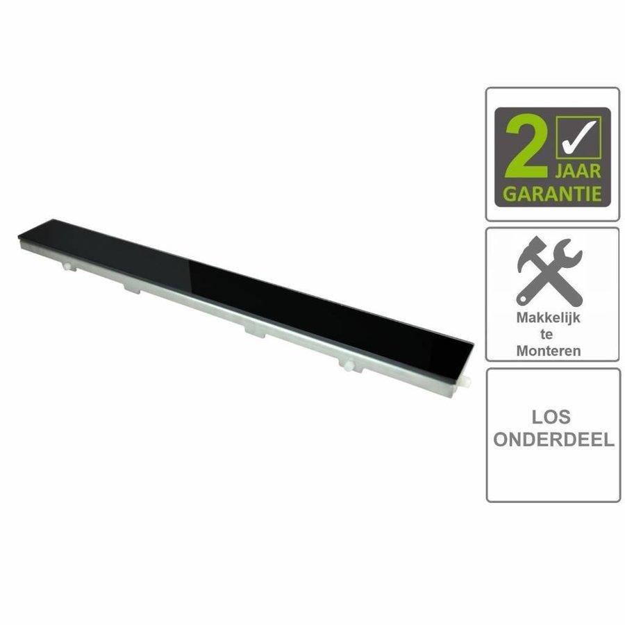 AQS Glasrooster Tbv RVS Douchegoot 50x7 cm Zwart