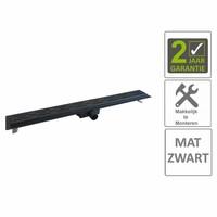 AQS Douchegoot Flens Met Uitneembaar Sifon 100x7x6.7cm RVS Mat Zwart