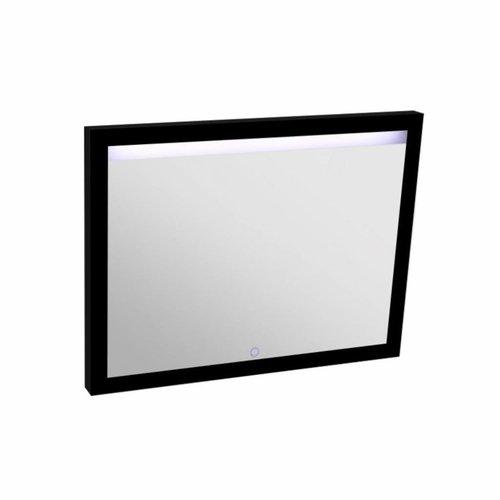 Spiegel Best Design Black Miracle 100x80cm LED Verlichting Mat Zwart