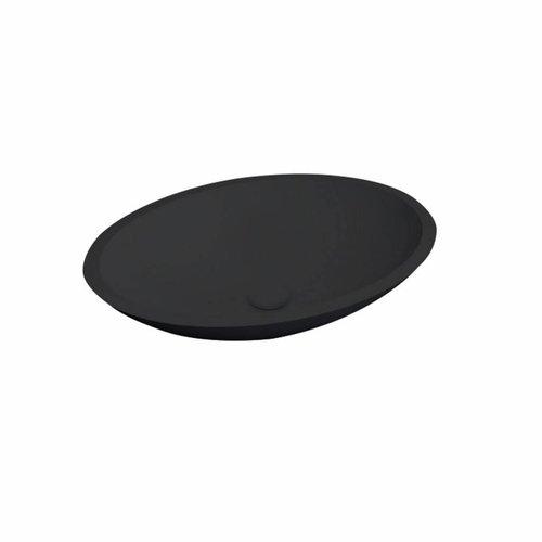 Waskom Best Design Epona Opbouw 52 cm Solid Surface Mat Zwart