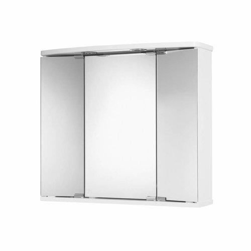 Spiegelkast Go By Van Marcke Funa 68x22x60cm MDF LED Verlichting Wit