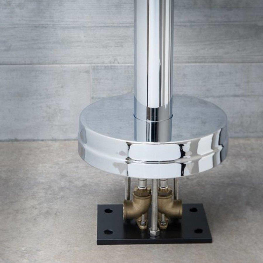 Badkraan Vrijstaand Schütte Cornwall 110 cm Metalen Greep en Keramische Schijven Chroom