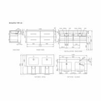 Badkamermeubelset Go By Van Marcke Alouette 120cm Softclose Met Spiegelkast 4 Laden Wit