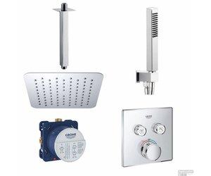 Grohe smartcontrol inbouw doucheset vierkant met hoofddouche cm
