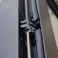 Aqua Splash Douchecabine Frame 120x120 cm 8 mm NANO Glas Mat Zwart Raster