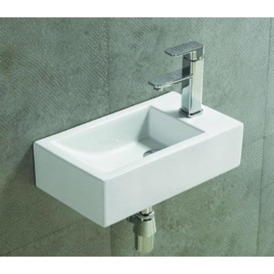 Keramische fontein Qubic 45x25x12 cm links / rechts