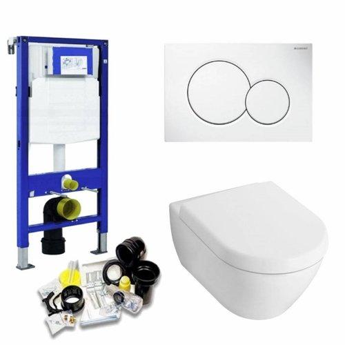 UP320 Toiletset 22 Villeroy & Boch Spoelrand Subway 2.0 met Sigma drukplaat