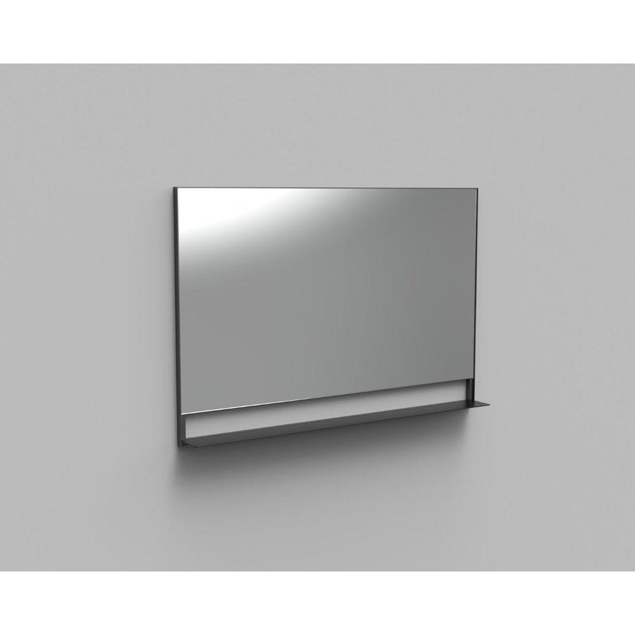 Badkamerspiegel met Planchet Boss & Wessing Reflect 120x80 cm Mat Zwart