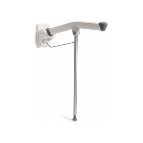 Toiletarmsteun Etac Rex Opklapbaar met Steunpoot 85 cm Wit (draagvermogen tot 150 kg)