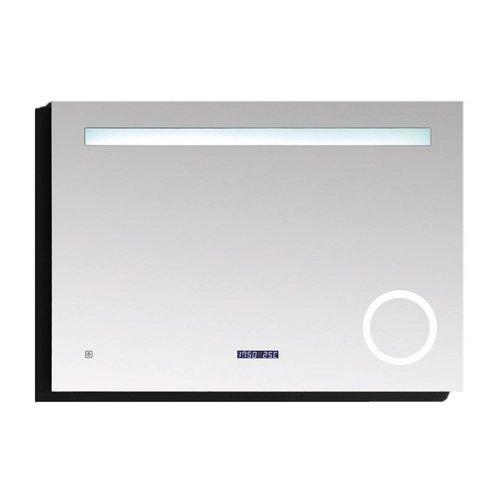 Badkamerspiegel Best Design Linet LED Verlichting 80x70 cm met Klok en Vergroting