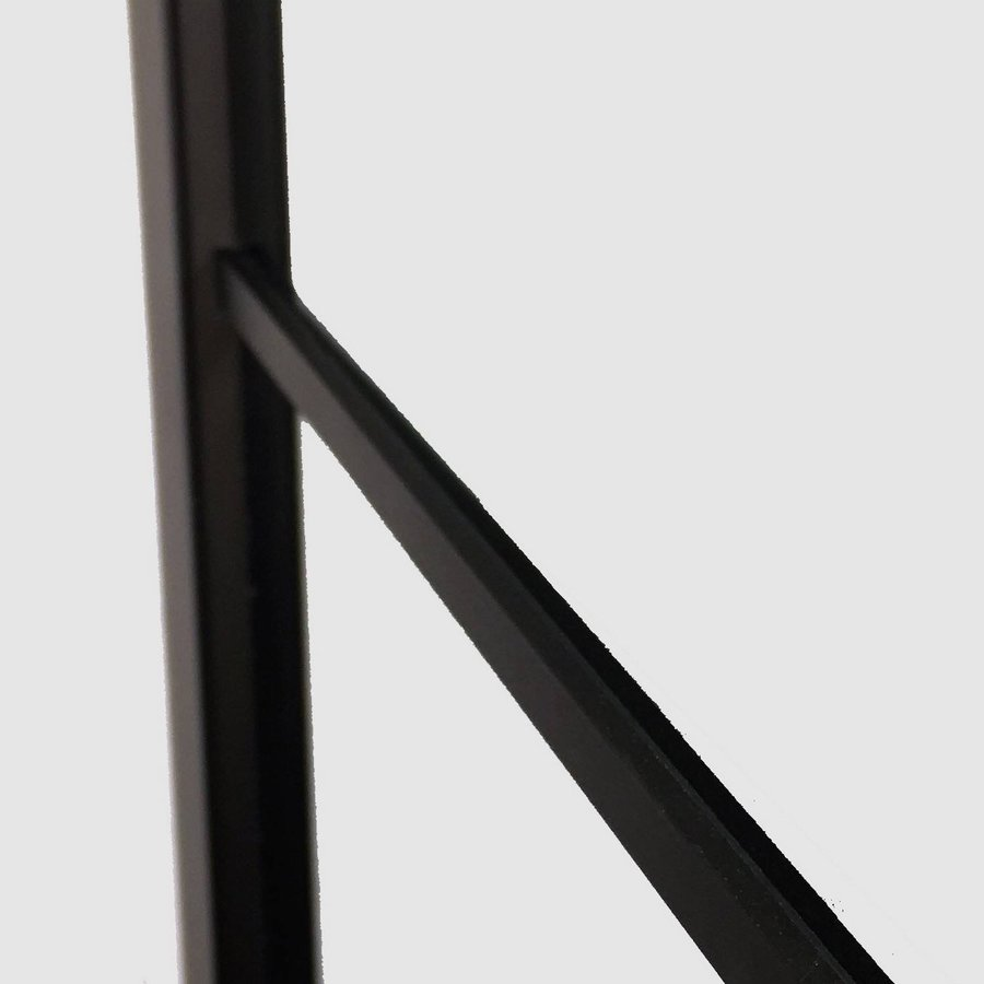 AQS Inloopdouche Frame 30x200 cm 8mm NANO Glas Mat Zwart Raster