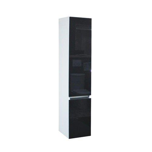 Kolomkast BWS Twee Soft-Close deuren Greeploos 30x35x150 cm Rechts Hoogglans Antraciet