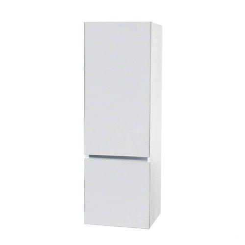 Kolomkast BWS Twee Soft-Close deuren Greeploos 50x35x150 cm Links Hoogglans Wit
