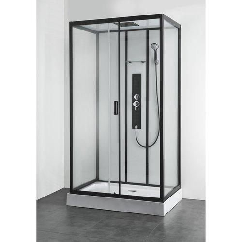 Douchecabine Allibert Uyuni 225x80x120 cm Rechthoek Frontale Instap Schuifdeuren 4mm Helder Glas