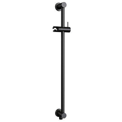 Glijstang Brauer Black 70 cm met Wandaansluitbocht Mat Zwart