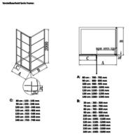 AQS Inloopdouche Frame 90x200 cm 8mm NANO Glas Mat Groen Raster
