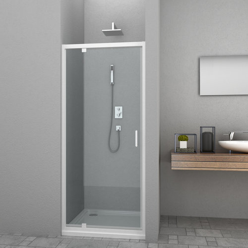 Douchedeur Allibert Happy 80x185 cm 4mm Helder Glas Wit