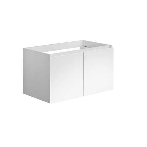 Onderkast Allibert Alma 80x47,2x46 cm Soft-Close Deuren Glanzend Wit (wastafel optioneel)