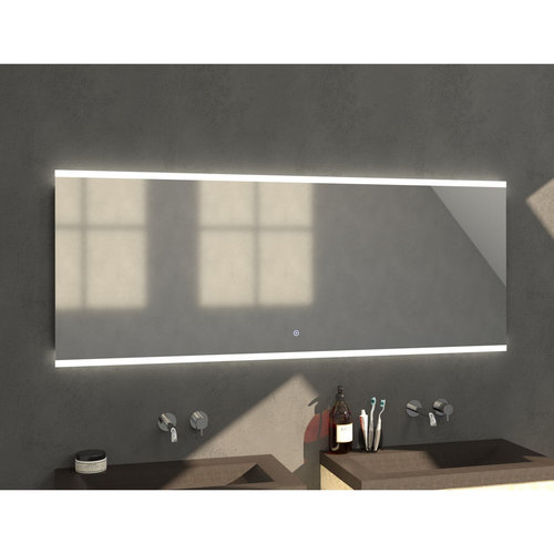 Badkamerspiegel met LED Verlichting Sanitop Twinlight 180x70x3 cm