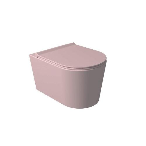 Toiletzitting Salenzi Form Slim Mat Roze