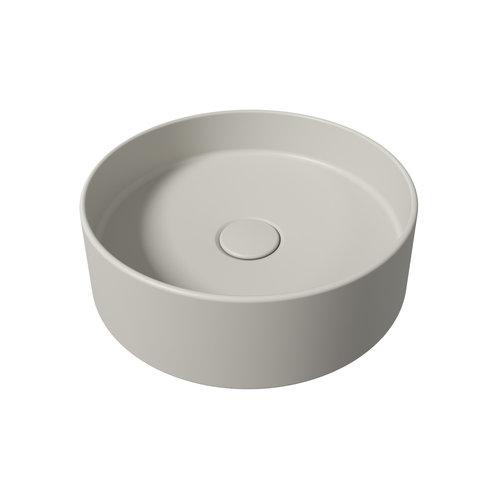Opbouw Wastafel Salenzi Hide Circle 40x12 cm Mat Grijs (inclusief bijpassende clickwaste)