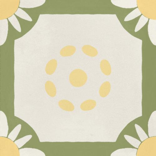 Portugese Vloertegel Jos Hidro Teatime Lime 19.7x19.7 cm (prijs p/m2)