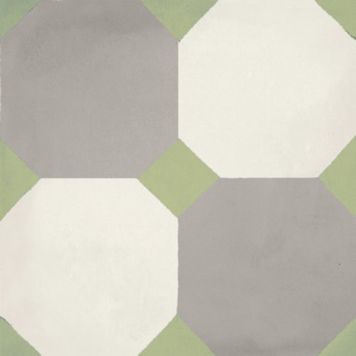 Portugese Vloertegel Jos Hidro 8Side Green 19.7x19.7 cm (prijs p/m2)