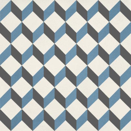 Portugese Vloertegel Jos Hidro Upsidedown Blauw 19.7x19.7 cm (prijs p/m2)