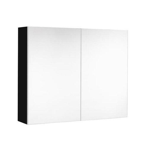 Spiegelkast Allibert Mira 80x65x16 cm UTE stopcontact Ultra Mat Zwart