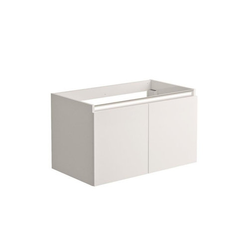 Onderkast Allibert Pesaro 80x46x47,2 cm Soft-Close Lades Glanzend Alpenwit (wastafel optioneel)