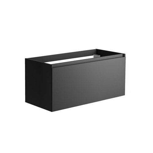 Onderkast Allibert Nordik 100x46x47,2 cm Gelakt MDF Ultra Mat Zwart (wastafel optioneel)
