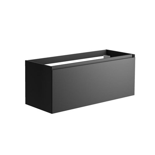 Onderkast Allibert Nordik 120x46x47,2 cm Gelakt MDF Ultra Mat Zwart (wastafel optioneel)