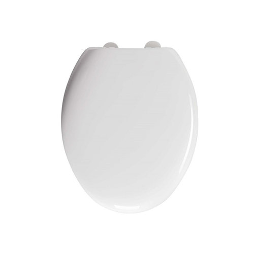 Toiletzitting Allibert Karma Kunststof 38x6,6x45,5 cm Soft-Close Afklikbaar Wit