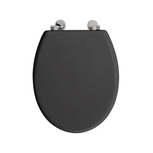 Toiletzitting Allibert Bolivia Geperst Hout 36,2x5,2x45 cm Glanzend Grijs