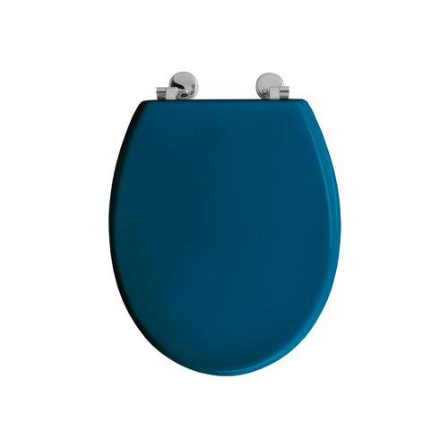 Toiletzitting Allibert Bolivia Geperst Hout 36,2x5,2x45 cm Glanzend Blauw