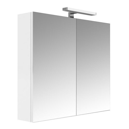 Spiegelkast Allibert Juno Met Verlichting  80x75,2x16 cm Wit Glanzend